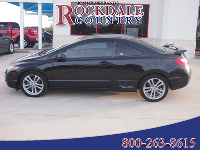 honda civic 2007 black coupe si gasoline 4 cylinders front wheel drive 6 speed manual 76567