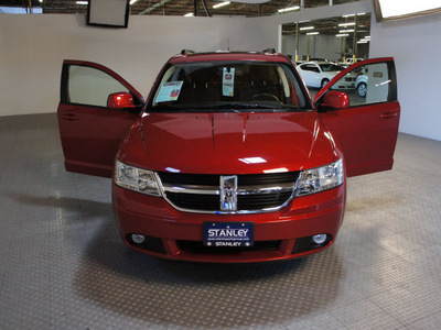 dodge journey 2010 dk  red suv sxt gasoline 6 cylinders front wheel drive automatic 75219