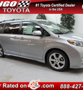 toyota sienna 2013 silver van se 8 passenger gasoline 6 cylinders front wheel drive automatic 91731