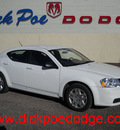 dodge avenger 2012 white sedan se 4 cylinders automatic 79925