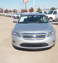 ford taurus 2010 silver sedan sel gasoline 6 cylinders front wheel drive automatic 76108