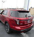 ford explorer 2013 red suv sport 4x4 gasoline 6 cylinders 4 wheel drive automatic with overdrive 60546