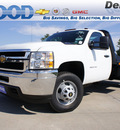 chevrolet silverado 3500hd cc 2012 white work truck 8 cylinders allison 76206