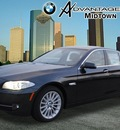 bmw 5 series 2013 black sedan 535i gasoline 6 cylinders rear wheel drive automatic 77002