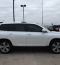 toyota highlander 2013 white suv limited gasoline 6 cylinders front wheel drive automatic 76011
