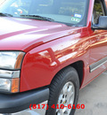 chevrolet silverado 1500 2005 red ls gasoline 8 cylinders rear wheel drive automatic 76051