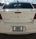 dodge avenger 2012 white sedan sxt plus flex fuel 6 cylinders front wheel drive automatic 76011