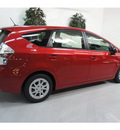 toyota prius v 2013 barcelona red wagon three hybrid 4 cylinders front wheel drive cont  variable trans  91731