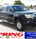 toyota tacoma 2007 black prerunner v6 gasoline 6 cylinders rear wheel drive automatic 77388