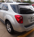 chevrolet equinox 2012 silver suv ltz flex fuel 4 cylinders front wheel drive automatic 77581