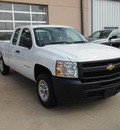 chevrolet silverado 1500 2011 white pickup truck work truck gasoline 6 cylinders 2 wheel drive automatic with overdrive 77656