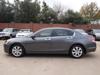 honda accord 2010 dk  gray sedan ex l v6 w navi gasoline 6 cylinders front wheel drive automatic 75080