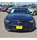 ford mustang 2011 dk  blue coupe gasoline 6 cylinders rear wheel drive automatic 78572