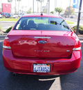 ford focus 2009 red sedan se gasoline 4 cylinders front wheel drive automatic 91010