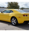chevrolet camaro 2012 yellow coupe lt gasoline 6 cylinders rear wheel drive automatic 77094