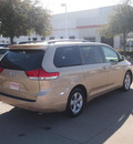 toyota sienna 2011 tan van le 8 passenger gasoline 6 cylinders front wheel drive automatic 76053