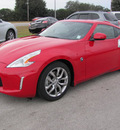 nissan 370z 2013 red coupe gasoline 6 cylinders rear wheel drive manual 33884