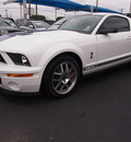 ford shelby gt500 2007 white coupe gasoline 8 cylinders rear wheel drive standard 77581