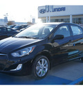 hyundai accent 2013 black sedan gls gasoline 4 cylinders front wheel drive automatic 77094