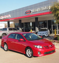 toyota corolla 2011 red sedan s gasoline 4 cylinders front wheel drive automatic 76053