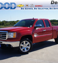 gmc sierra 1500 2013 red sle flex fuel 8 cylinders 2 wheel drive 6 speed automatic 76234