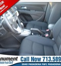 chevrolet cruze 2013 red sedan 1lt auto gasoline 4 cylinders front wheel drive automatic 77503