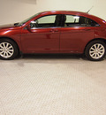 chrysler 200 2011 red sedan touring gasoline 4 cylinders front wheel drive automatic 75219