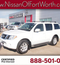 nissan pathfinder 2012 white suv sv gasoline 6 cylinders 2 wheel drive automatic 76116