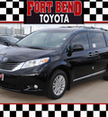 toyota sienna 2013 black van xle 8 passenger gasoline 6 cylinders front wheel drive automatic 77469