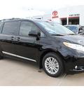 toyota sienna 2013 black van xle 8 passenger gasoline 6 cylinders front wheel drive automatic 77469