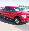 ford f 150 2013 red stx flex fuel 8 cylinders 2 wheel drive automatic 76108