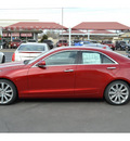 cadillac ats 2013 red sedan 3 6l premium flex fuel 6 cylinders rear wheel drive automatic 76903