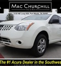 nissan rogue 2009 white s gasoline 4 cylinders front wheel drive automatic 76137