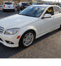 mercedes benz c class 2009 white sedan c300 luxury gasoline 6 cylinders rear wheel drive automatic 78028