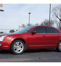 ford fusion 2008 red sedan v6 sel gasoline 6 cylinders front wheel drive automatic 76543