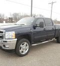 chevrolet silverado 2500hd 2011 dk  blue ltz diesel 8 cylinders 4 wheel drive automatic 55318