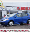 nissan versa 2010 blue hatchback 1 8 s gasoline 4 cylinders front wheel drive automatic 79119