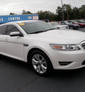 ford taurus 2011 white sedan sel gasoline 6 cylinders front wheel drive automatic 32401