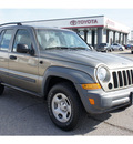 jeep liberty 2006 gold suv sport gasoline 6 cylinders 4 wheel drive automatic 76543