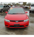 honda civic 2007 red coupe ex gasoline 4 cylinders front wheel drive automatic with overdrive 77627