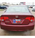 honda civic 2007 dk  red sedan ex gasoline 4 cylinders front wheel drive automatic 77034