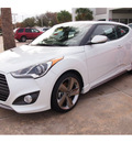 hyundai veloster turbo 2013 white coupe 4 cylinders automatic 77074