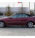 mercedes benz clk class 2008 red clk350 gasoline 6 cylinders rear wheel drive automatic 77002
