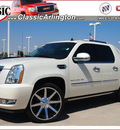 cadillac escalade ext 2011 white suv premium flex fuel 8 cylinders all whee drive automatic 76018