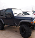 jeep wrangler 2005 blue suv unlimited gasoline 6 cylinders 4 wheel drive 6 speed manual 76018