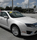 ford fusion hybrid 2012 white sedan hybrid 4 cylinders front wheel drive automatic 32783