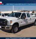 ford f 250 super duty 2013 white xl biodiesel 8 cylinders 4 wheel drive automatic 76108
