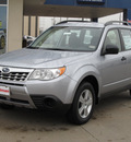 subaru forester 2012 silver wagon 2 5x gasoline 4 cylinders all whee drive automatic with overdrive 77099