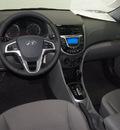 hyundai accent 2013 lt  blue hatchback se gasoline 4 cylinders front wheel drive automatic 75150