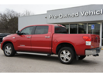 toyota tundra 2011 red limited gasoline 8 cylinders 2 wheel drive tiptronic 76502